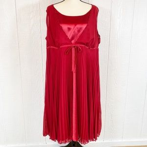 Lane Bryant Red Sleeveless Cocktail Dress Size 24
